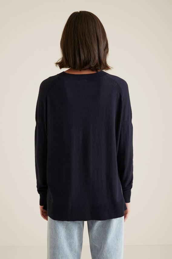 Hi Lo Sweater  BLUE IRIS  hi-res