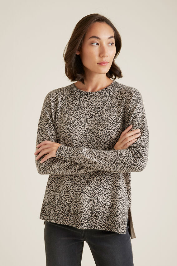 Hi Lo Sweater  OCELOT  hi-res