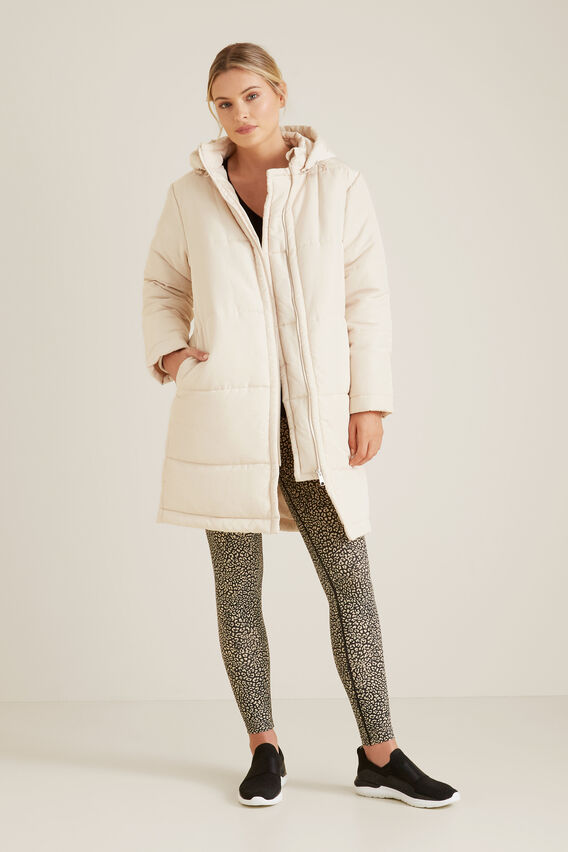 Longline Puffer Jacket  FRENCH CREAM  hi-res