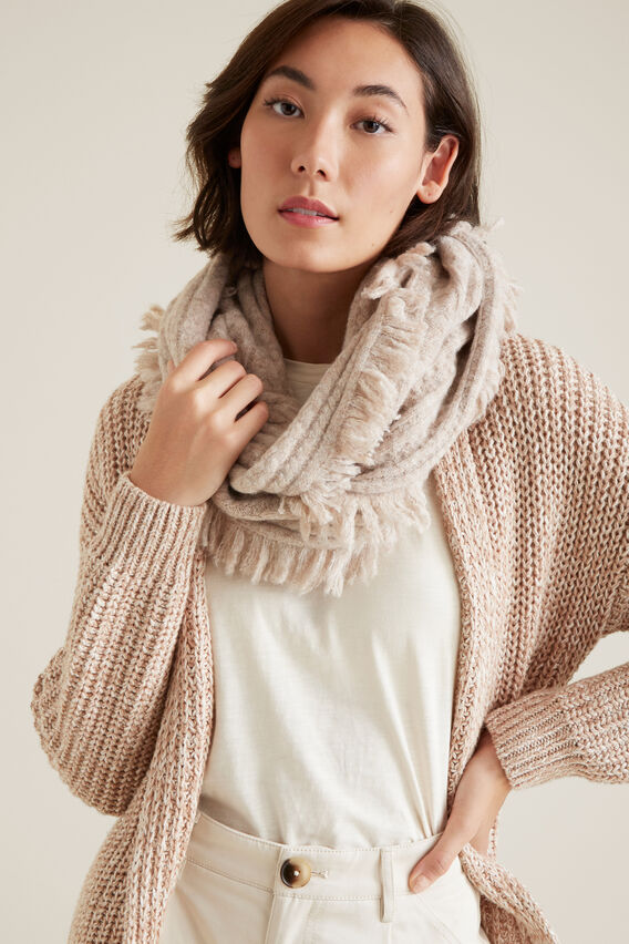Cable Knit Snood  BIRCH  hi-res