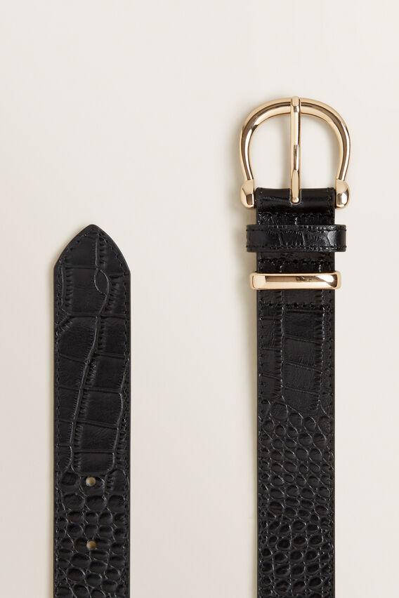 Classic Leather Belt  BLACK  hi-res