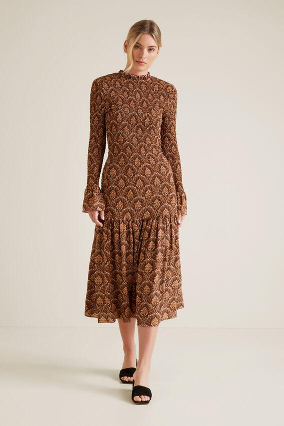 Shirred Maxi Dress  PAISLEY  hi-res