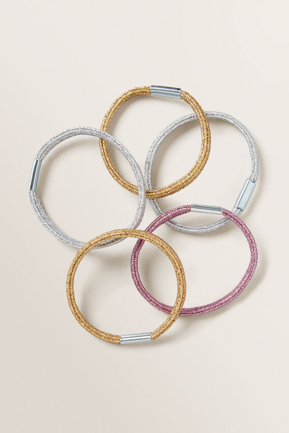 Hair Elastic Bundle  METALLIC  hi-res