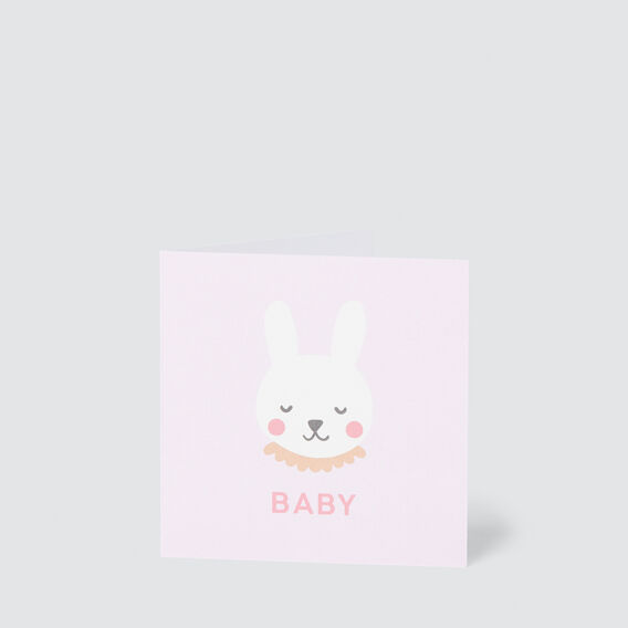 Small Baby Bunny Card  MULTI  hi-res
