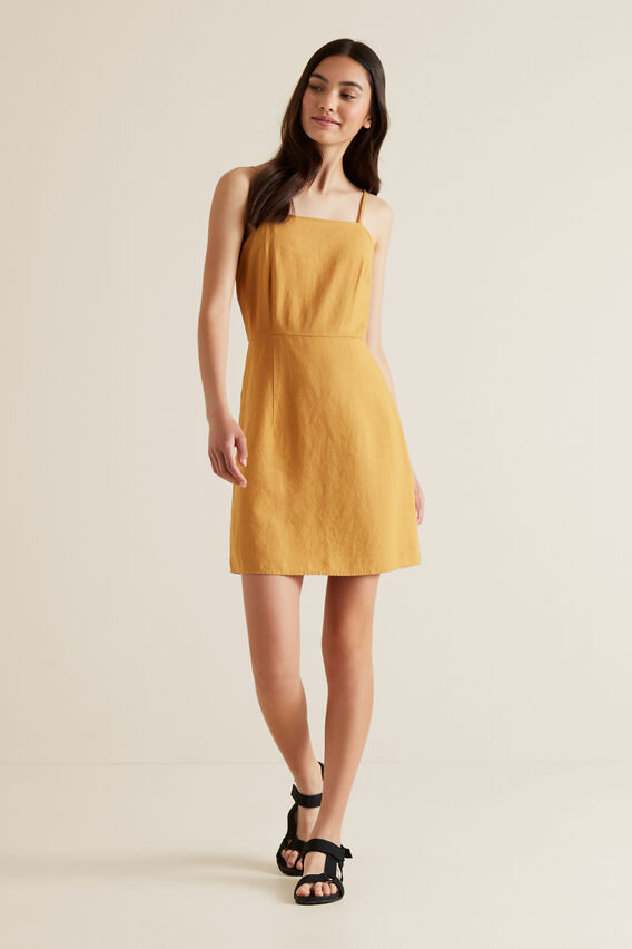 Linen Blend Dress  HONEY  hi-res