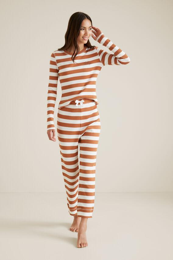 Rib Lounge Pyjama  TOBACCO  hi-res