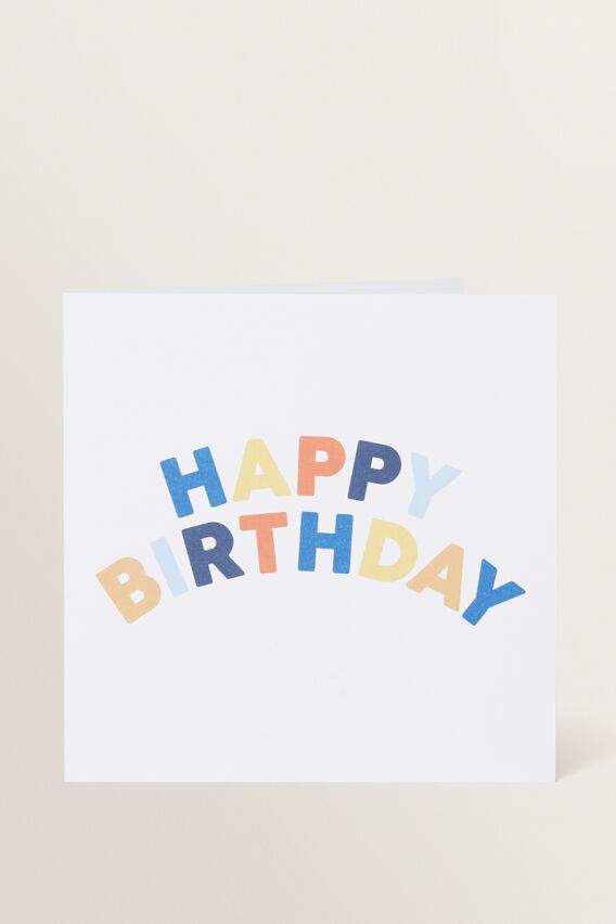 Large Happy Birthday Card  MULTI  hi-res