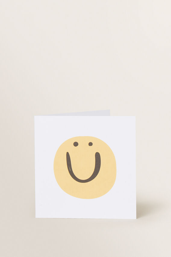 Small Smile Face Card  MULTI  hi-res