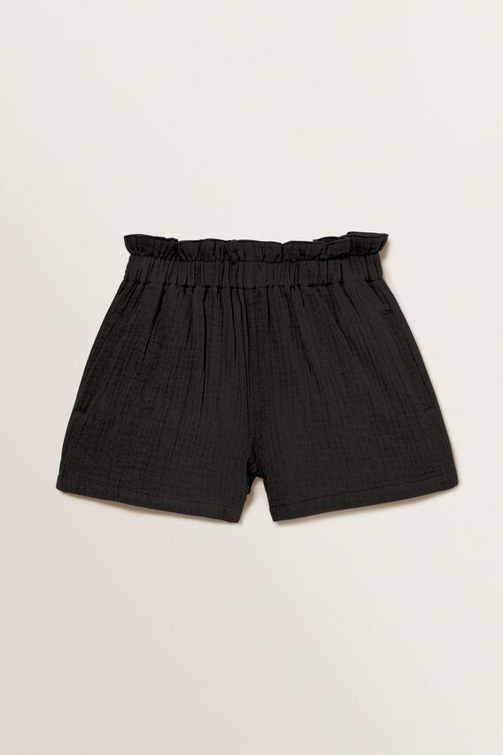 Cheesecloth Shorts  BLACK  hi-res
