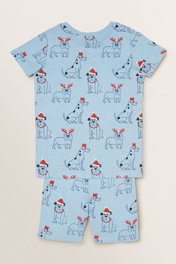 Christmas Dogs Pyjama  SLEEPY BLUE MARLE  hi-res