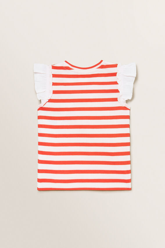 Frill Tank  APPLE RED/WHITE  hi-res