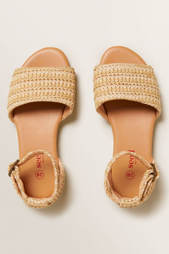Woven Sandal  NATURAL  hi-res