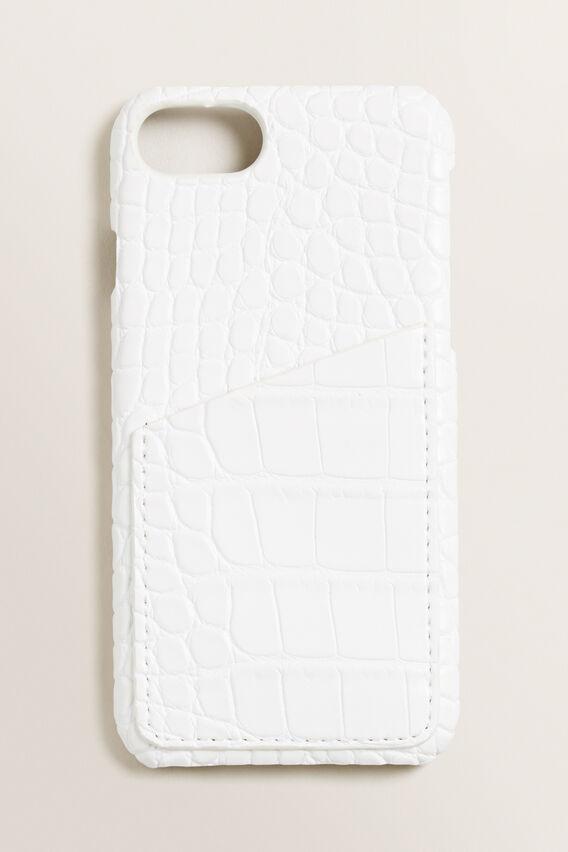 iPhone Case 6/7/8 +  WHITE CROC  hi-res