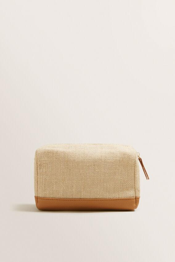 Fabric Makeup Bag  NATURAL  hi-res
