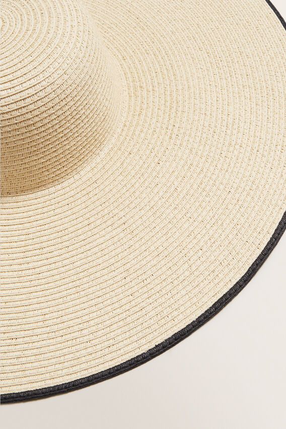 Contrast Edge Sun Hat  NATURAL/BLACK  hi-res
