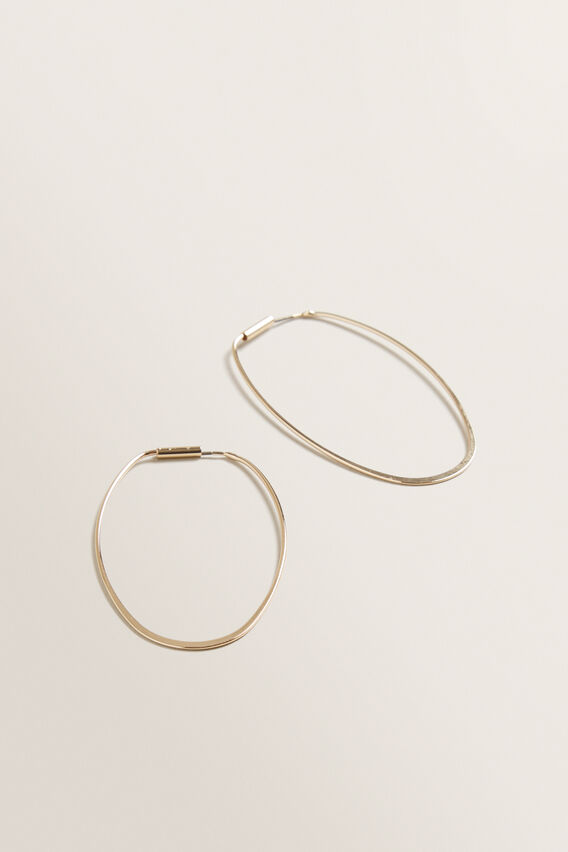 Oval Hoops  GOLD  hi-res