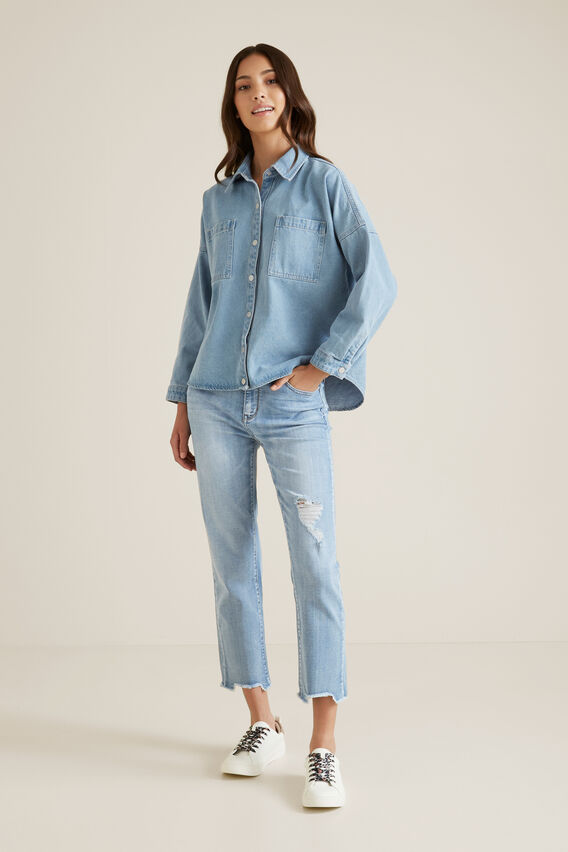 Slouch Denim Shirt  WASHED CLASSIC  hi-res