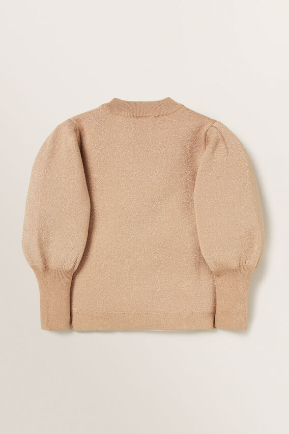 Puff Sleeve Sweater  LATTE  hi-res