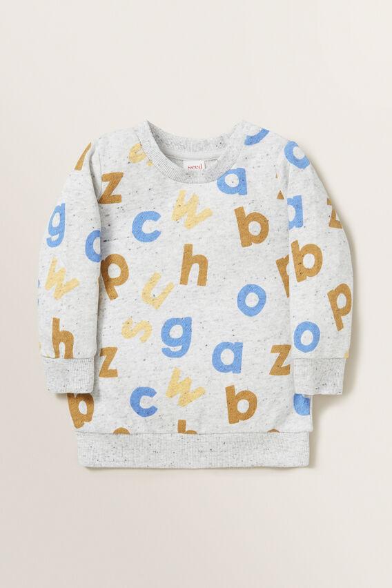 Alphabet Windcheater  CLOUDY MARLE  hi-res