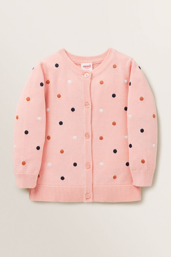 Embroidered Cardigan  DUSTY ROSE  hi-res