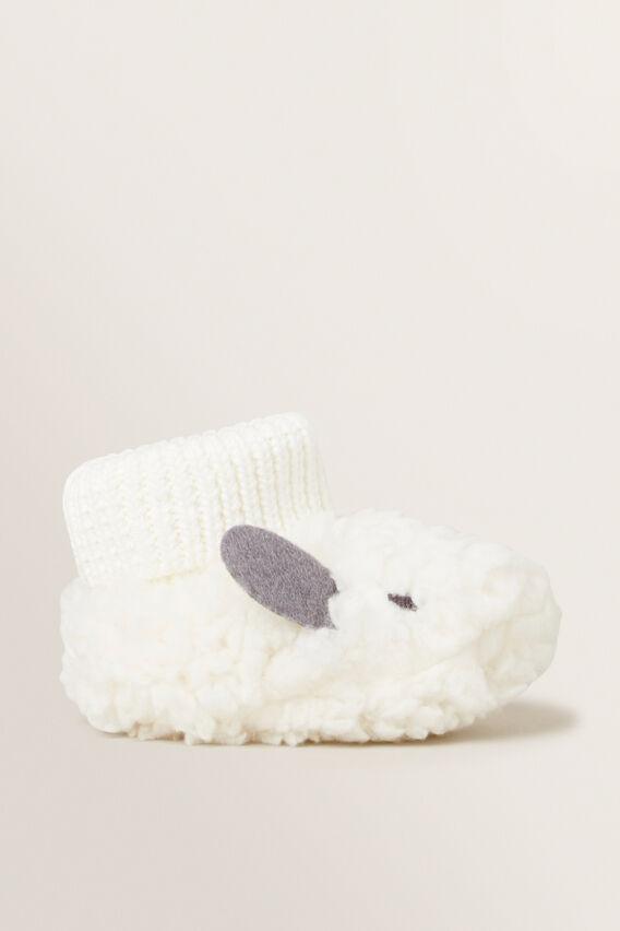 Bunny Sherpa Bootie  NB CANVAS  hi-res