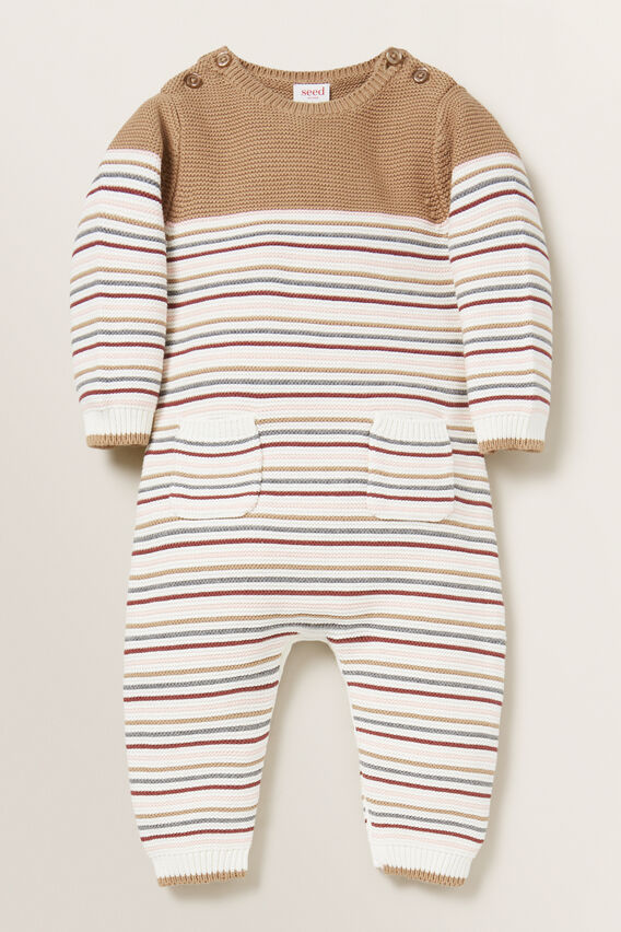 Stripe Knitted Jumpsuit  MULTI  hi-res