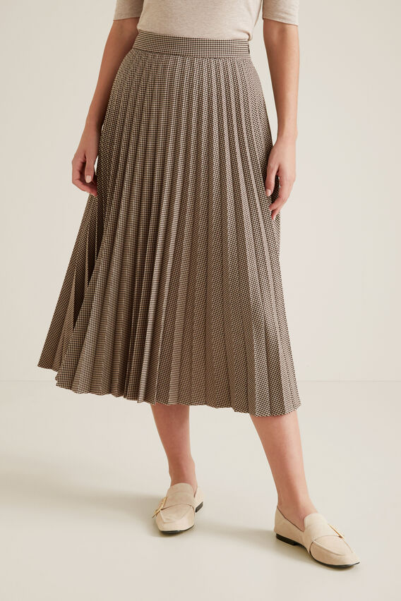 Pleated Check Skirt  MULTI CHECK  hi-res