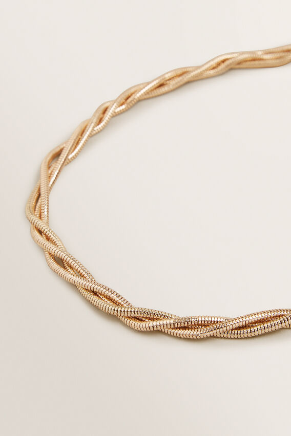 Twisted Gold Necklace  GOLD  hi-res