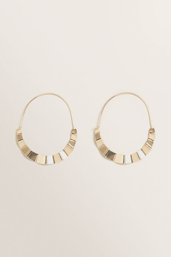 Textured Detail Hoops  GOLD  hi-res