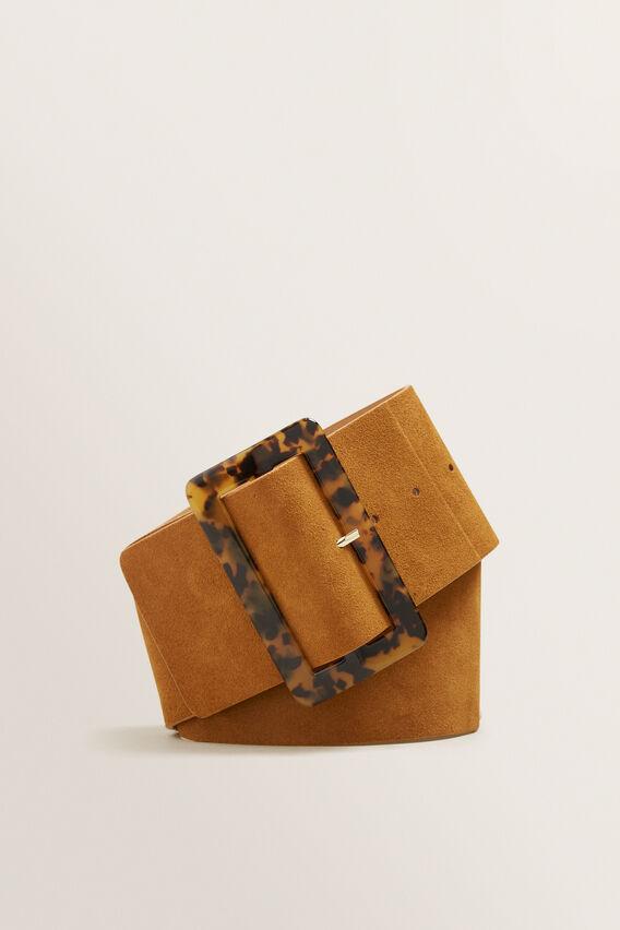 Tort Buckle Waist Belt  TAN  hi-res