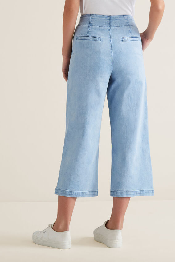 Denim Culotte  PASTEL DENIM WASH  hi-res