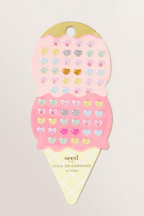 Ice Cream Stick On Earrings  MULTI  hi-res