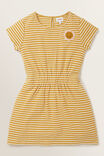 Daisy Patch Dress, OCHRE, hi-res