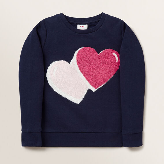 Heart Windcheater  NAVY  hi-res