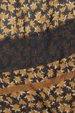 Faded Floral Square Scarf  BLACK MULTI  hi-res