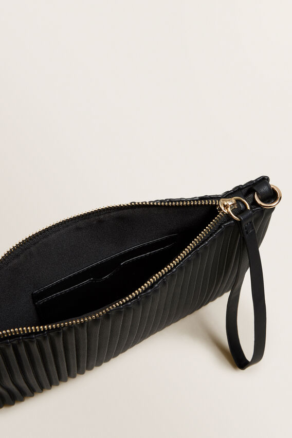 Pleat Pouch  BLACK  hi-res