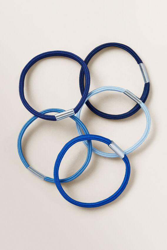 Hair Elastic Bundle  BLUE  hi-res