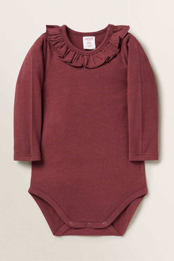 Frill Bodysuit  RUBY RED  hi-res