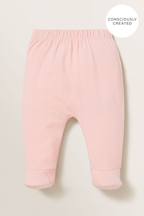 Organic Footed Leggings  BLUSH PINK  hi-res