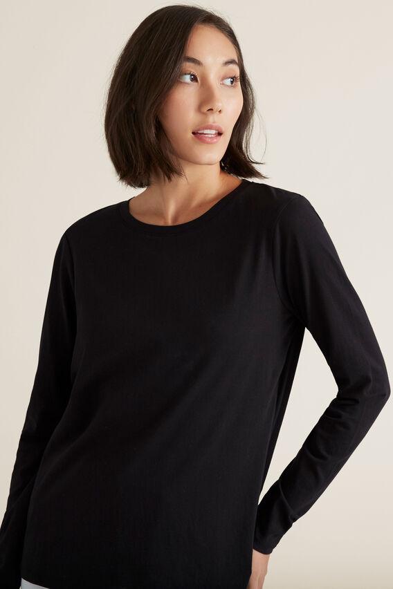 Classic Long Sleeve Top  BLACK  hi-res