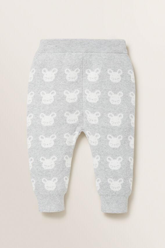 Mouse Jacquard Knit Pant  BIRCH MARLE  hi-res