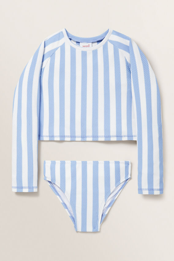 Stripe Rash-Kini  BLUEBELL  hi-res