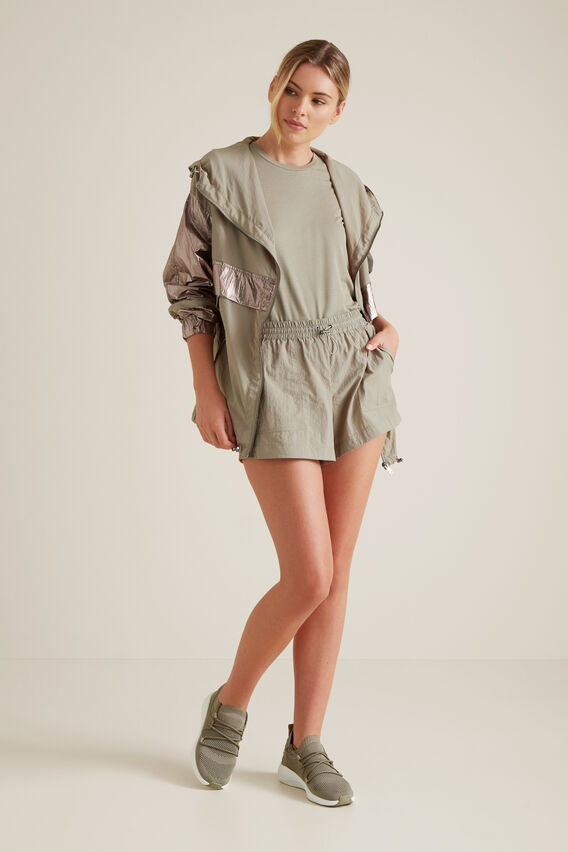 Contrast Leisure Jacket  SOFT KHAKI  hi-res