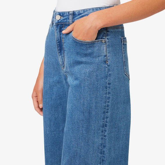 Wide Leg Frayed Jean  DEEP BLUE DENIM  hi-res