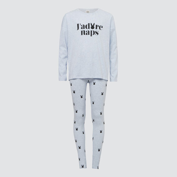 Classic Pyjamas  BABY BLUE MARLE  hi-res