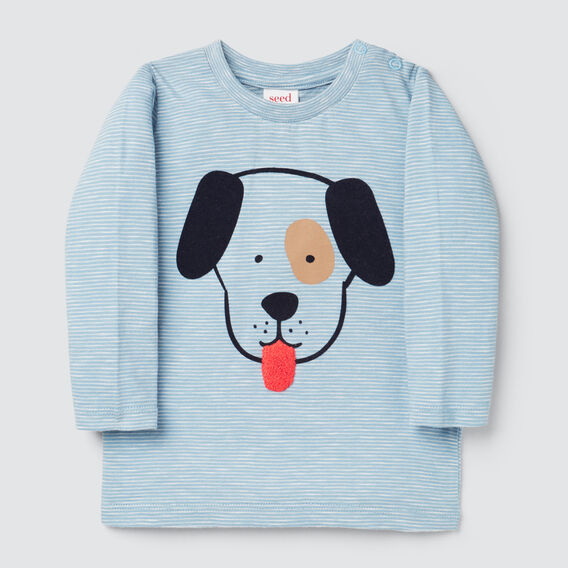 Stripe Puppy Tee  CLOUD BLUE  hi-res