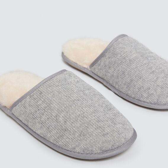 Shearling Slippers  GREY  hi-res