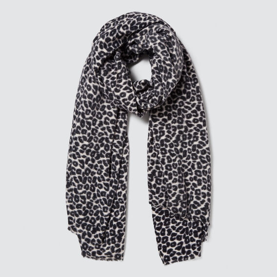 Simple Ocelot Scarf  GREY MULTI  hi-res
