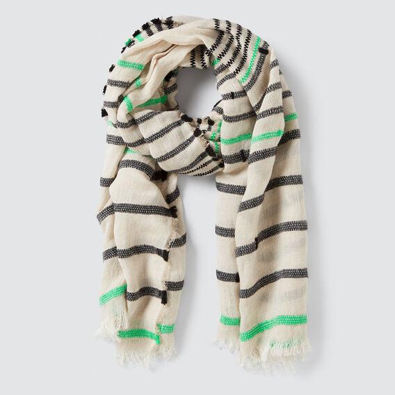 Textured Stripe Scarf  MULTI  hi-res