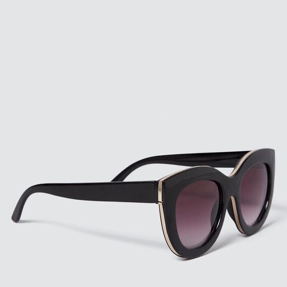 Heidi D-Frame Sunglasses  BLACK  hi-res
